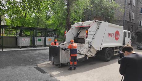 У Запоріжжі відкрили новий сміттєвий майданчик