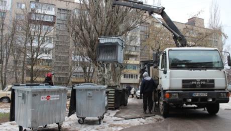 В Запорожье начали воровать контейнеры для мусора