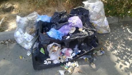 В Запорожье вандалы нападают на мусорные контейнера Вельтума